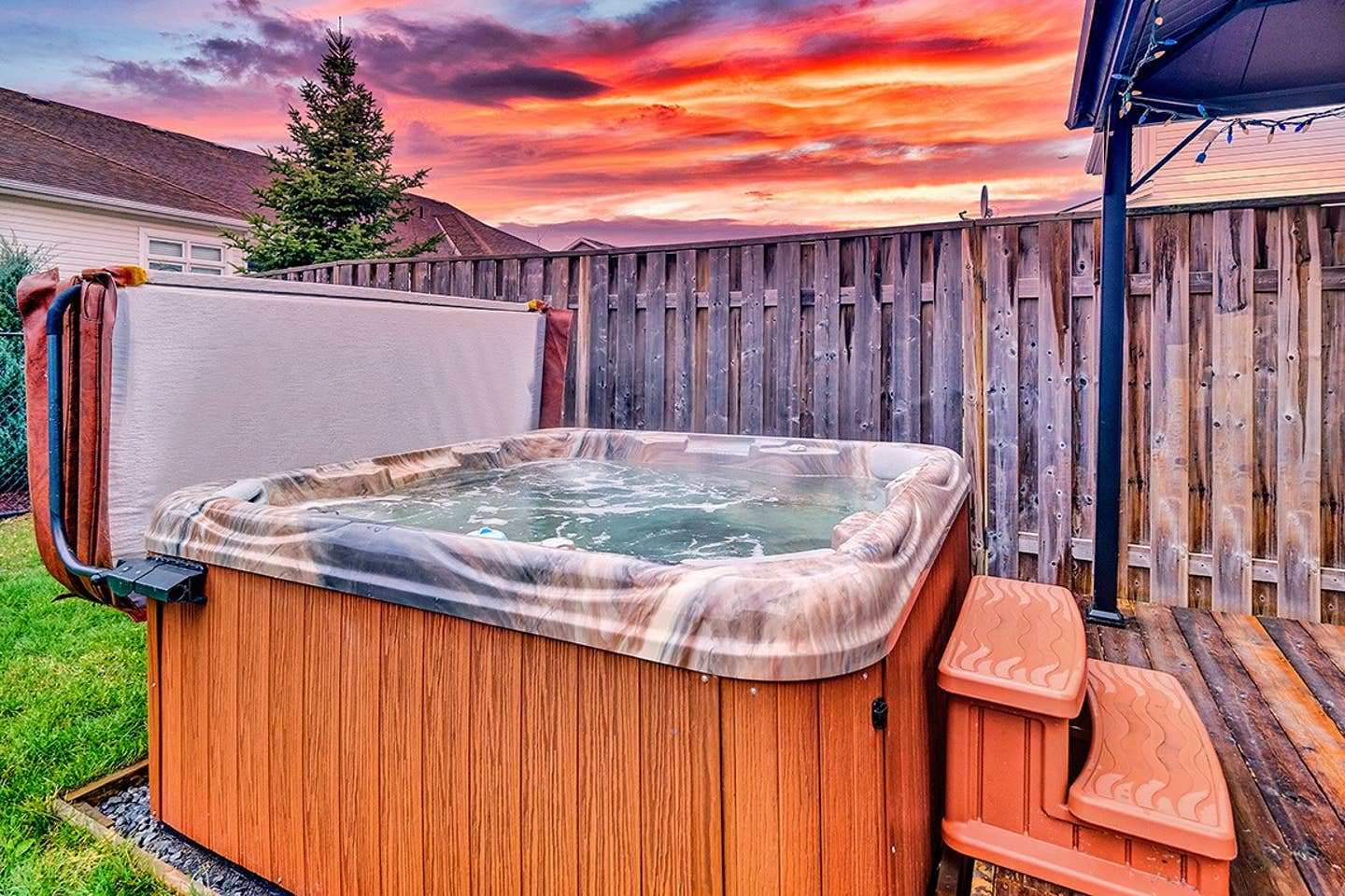 Executive home with hot tub and parking! featured image